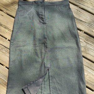 Dresses & Skirts - Metallic gray denim skirt